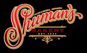 Shuman's Bakery logo - red